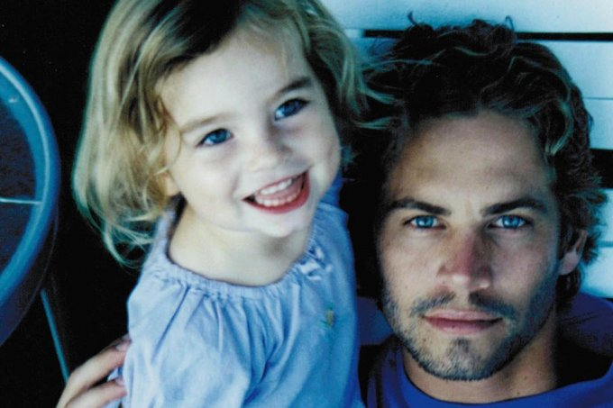 Paul Walker e a filha Meadow