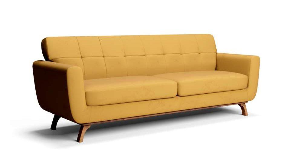 sofá pergamo amarelo mostarda