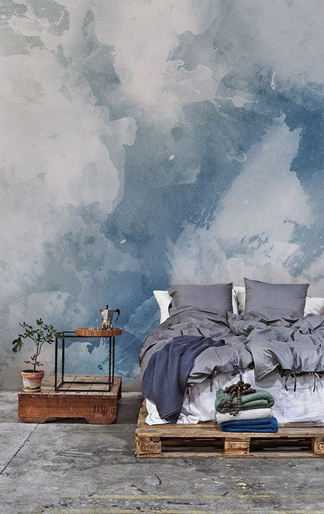 Pintura aquarela na parede