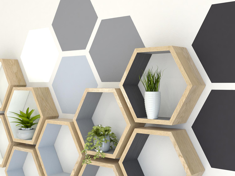 Pintura geométrica na parede