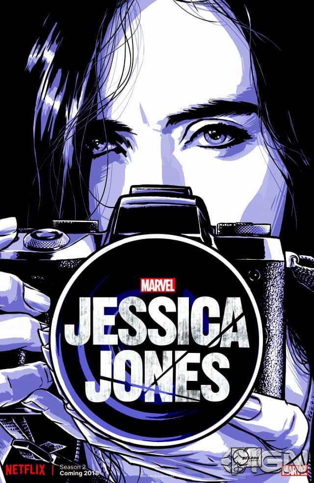 Pôster da segunda temporada de Jessica Jones