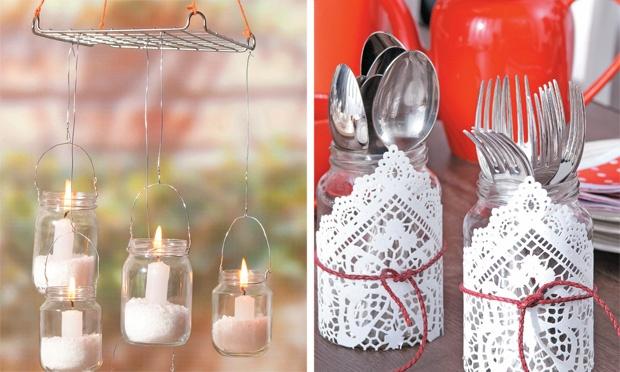 Ideia criativa: transforme os potes de vidro em objetos de decoração