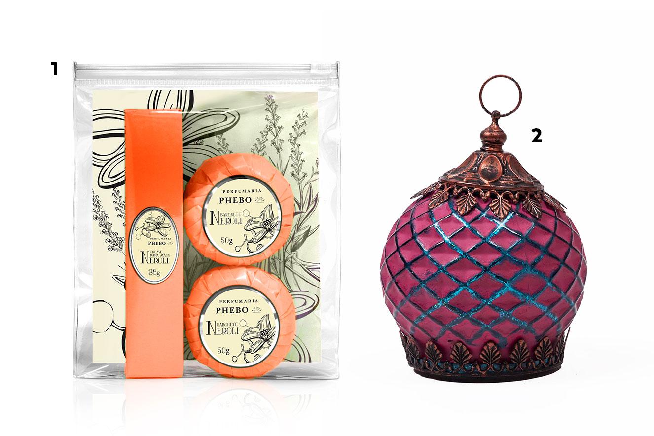 Kit de sabonetes e luminária para casa - ideias de presentes de Natal criativos e baratos