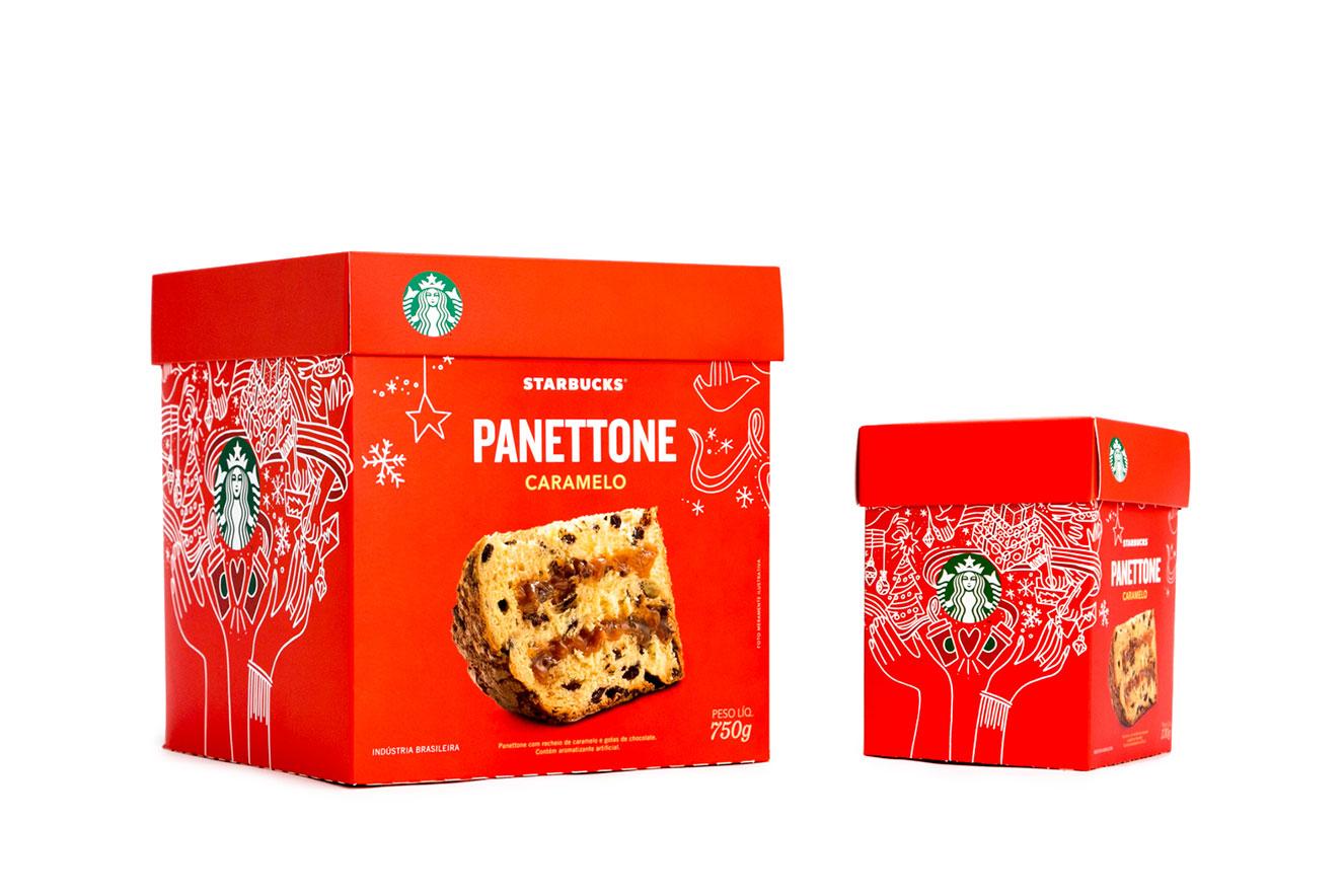 Duas caixas vermelhas de panettones em diferentes tamanhos - ideias de presentes de Natal criativos