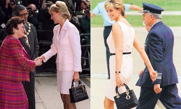 Princesa Diana com a bolsa Lady Dior