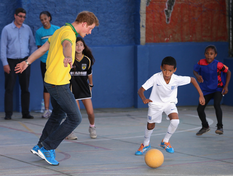 Principe Harry na Copa do Mundo do Brasil