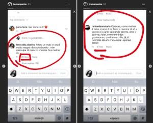 Comentários maldosos sobre o corpo de Bruna Marquezine