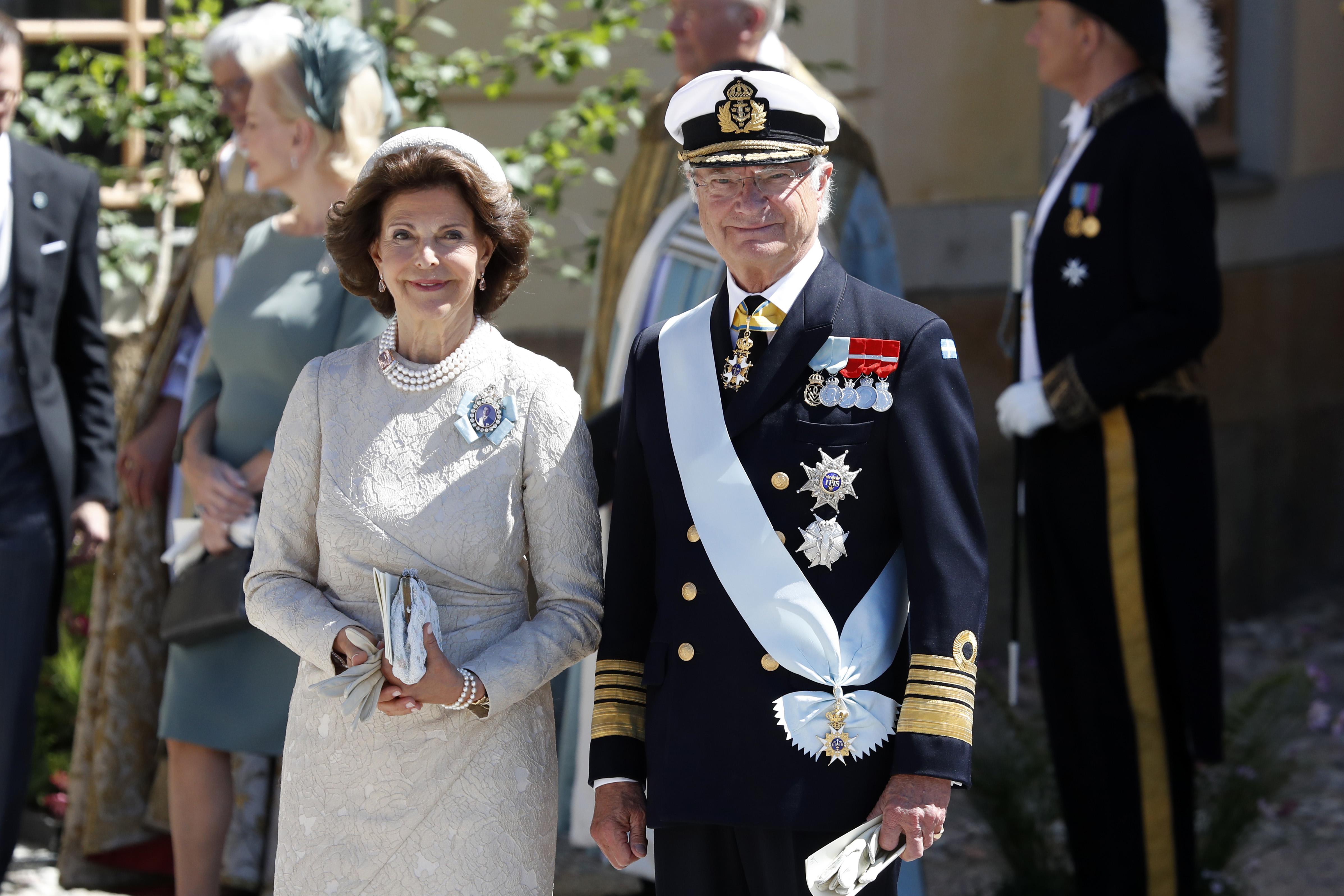 Rainha Silvia e Rei Carl XVI Gustaf da Suécia