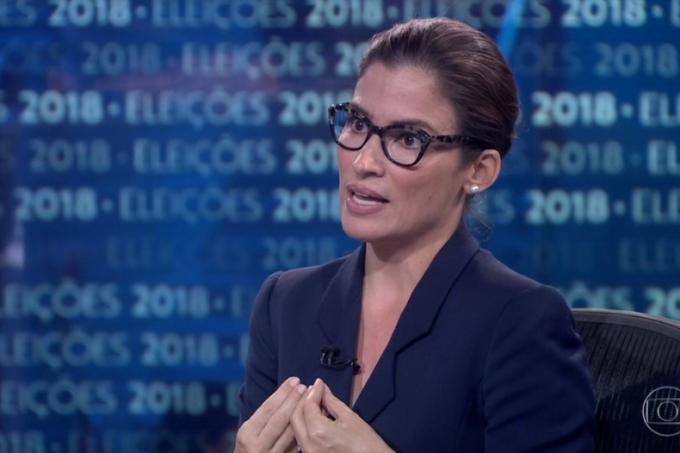renata vasconcellos jornal nacional entrevista bolsonaro
