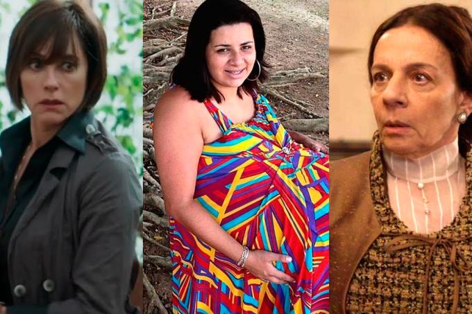 Resumo da novela O Tempo Não Para, Carmen, Agustina e a grávida de Taubaté