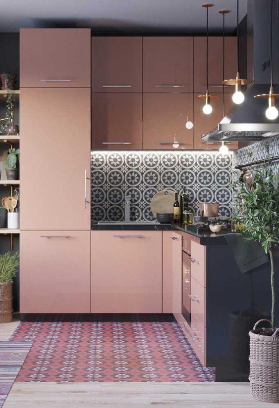 Decoração retrô e contemporânea na cozinha