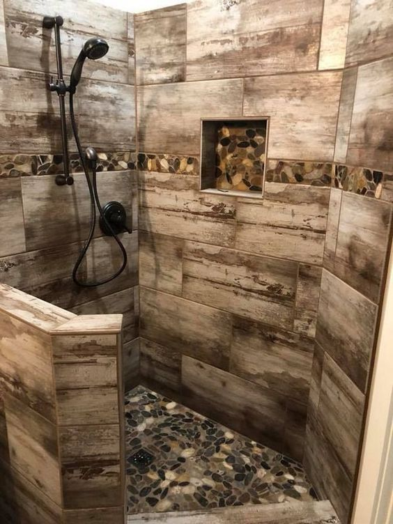 Revestimento para box de banheiro rústico