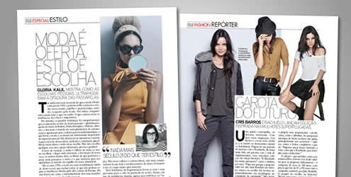 """Estilista Cris Barros fala da moda """"fast-fashion"""" na ELLE de abril"""