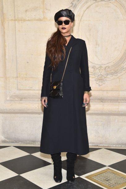Rihanna no desfile da Dior