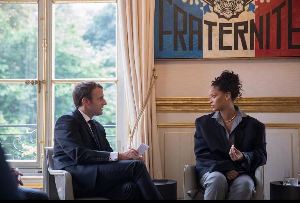 Rihanna e Emmanuel Macron