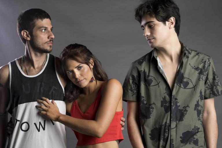 Rosa, Ícaro e Valentim na novela Segundo Sol