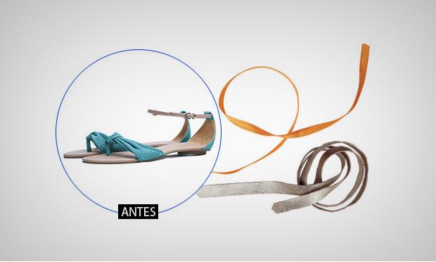 Incremente sua sandália com cadarços