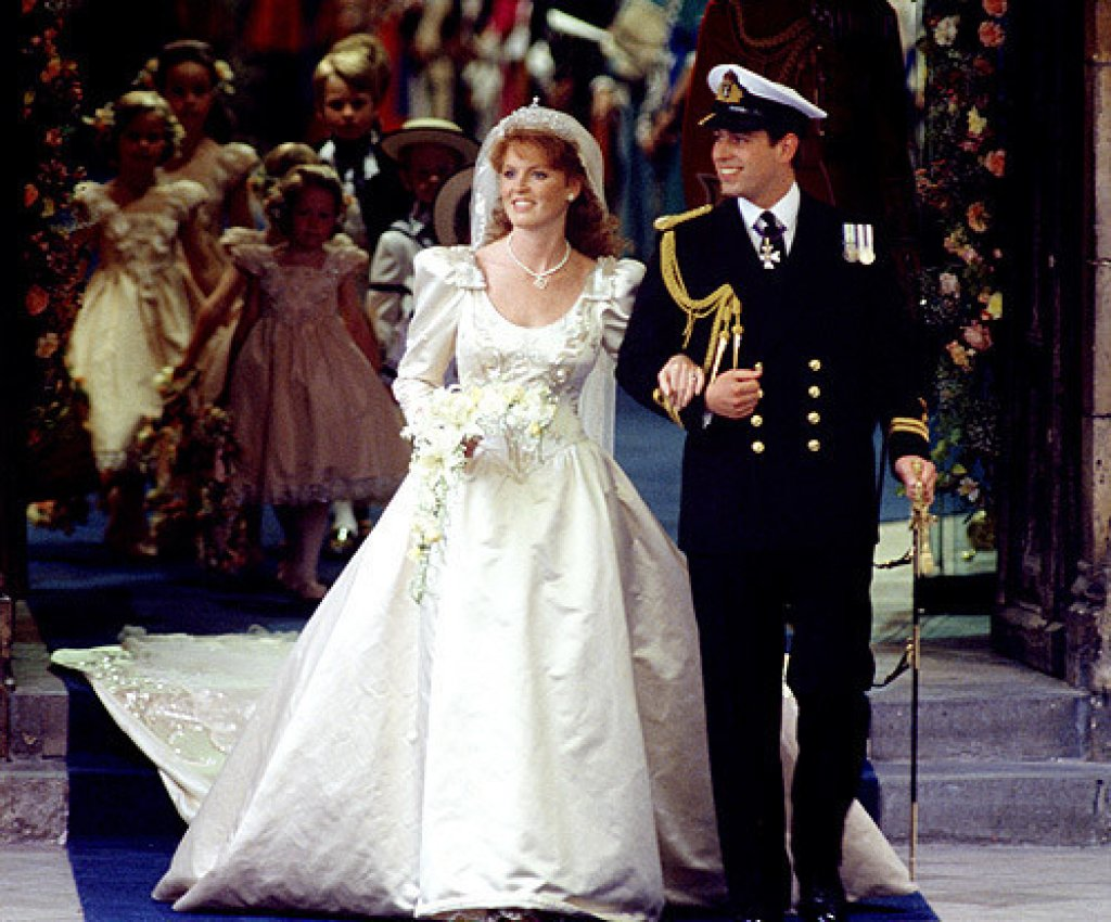 Sarah Ferguson - casamento príncipe Andrew