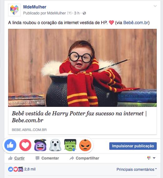Facebook Reactions de Halloween