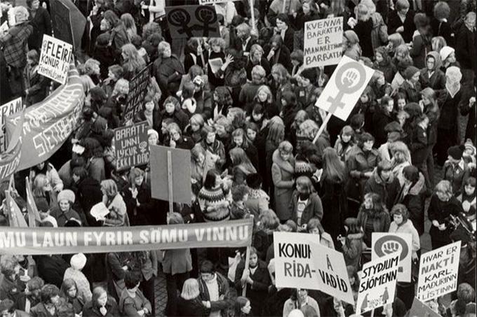 Manifestação de mulheres na Islândia