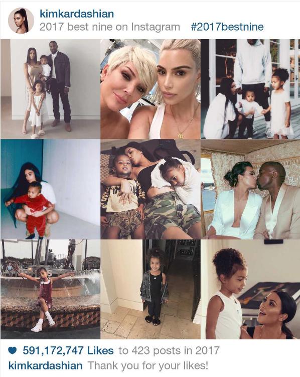 Best Nine 2017 e Kim Kardashian