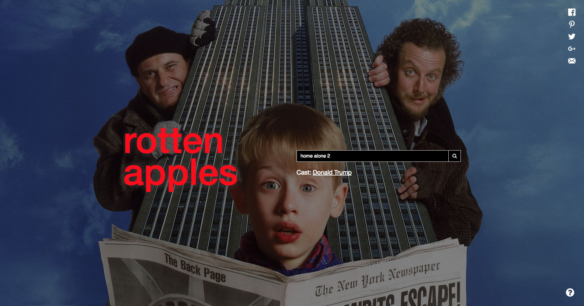 Rotten Apples - Home Alone 2
