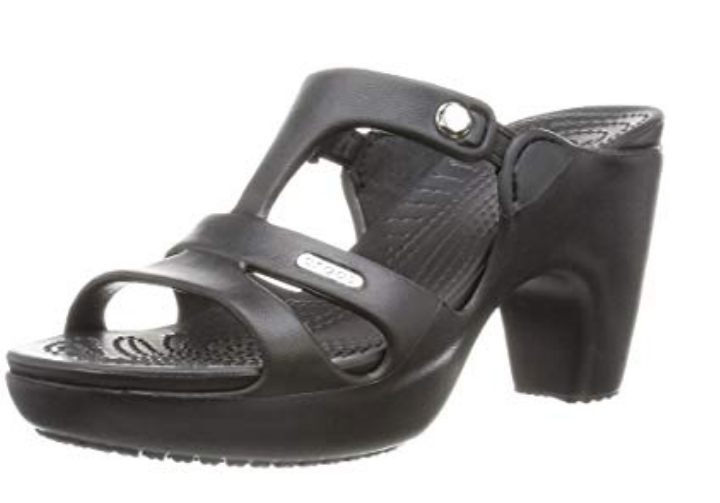 Crocs de salto preto