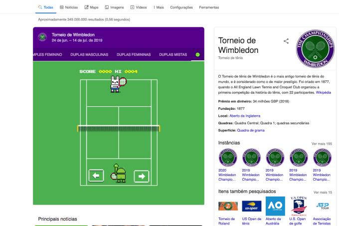 Joguinho Wimbledon Google