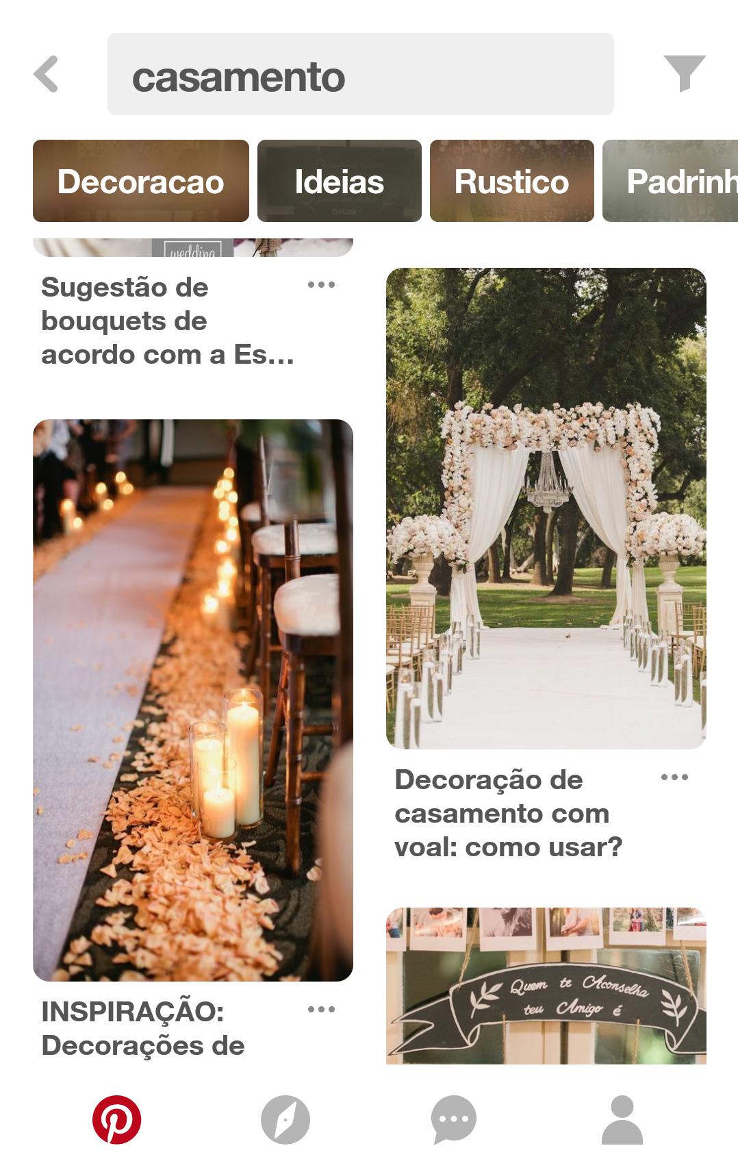 Aplicativos que te ajudam a organizar o casamento - Pinterest