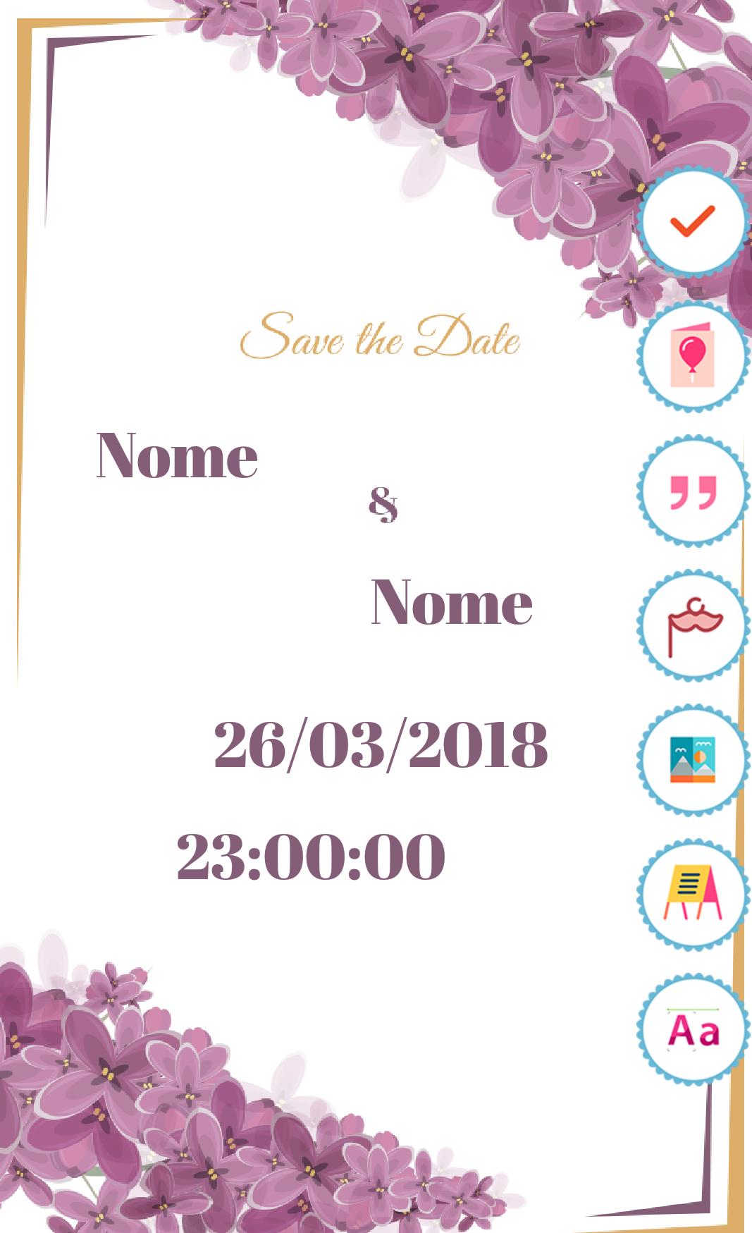 Aplicativos que te ajudam a organizar o casamento - Wedding Invitation Card Maker