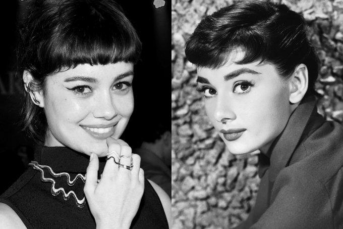 Sophie Charlotte e Audrey Hepburn