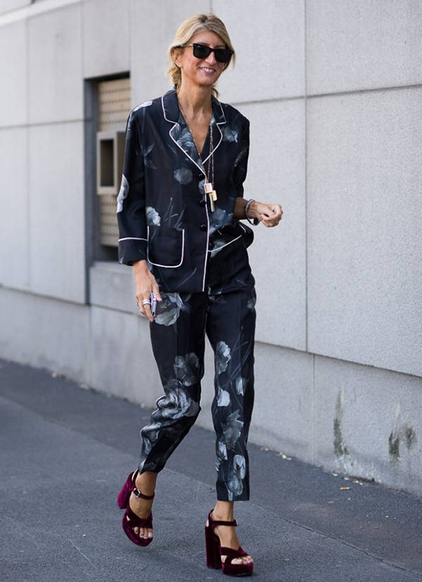 street style look pijama