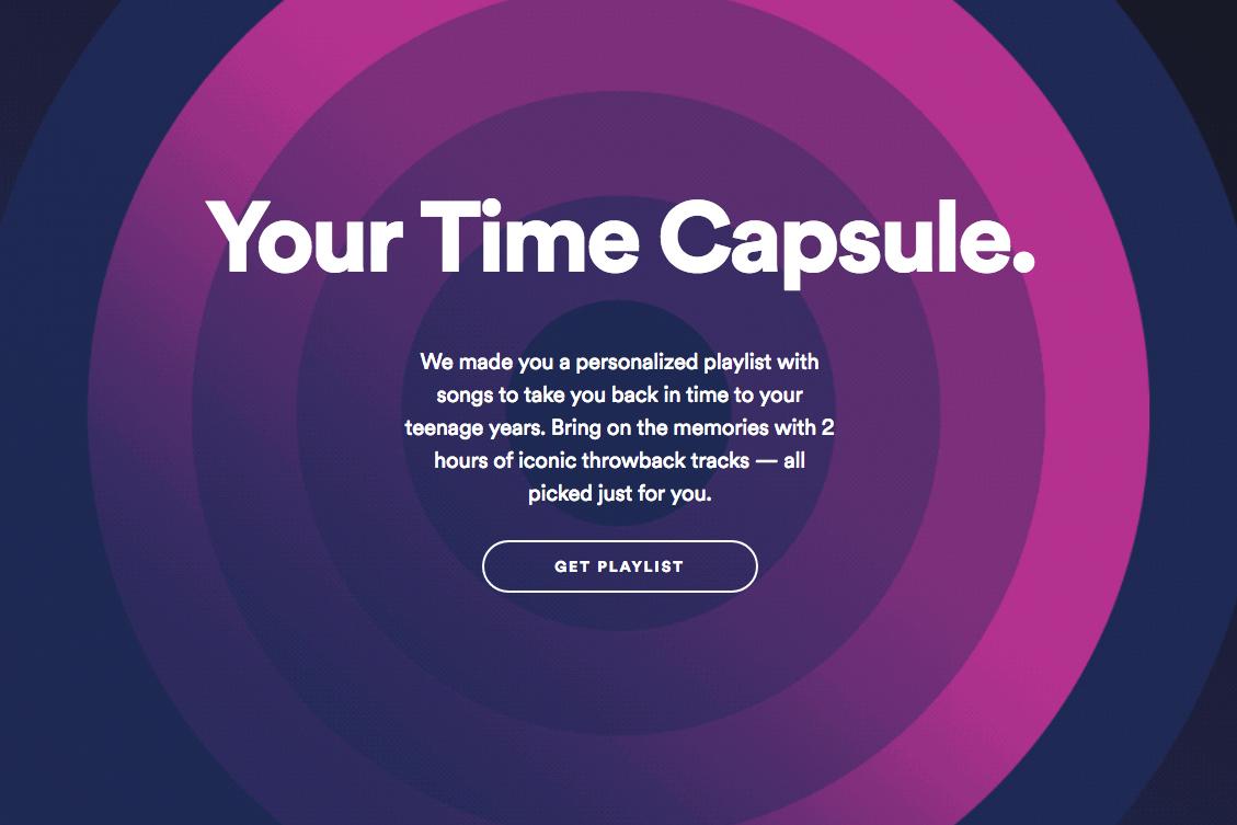 Sua Máquina do Tempo Spotify