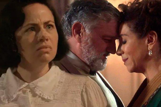 Resumo da novela Tempo de Amar, Odete morre ao ver Celeste e Conselheiro
