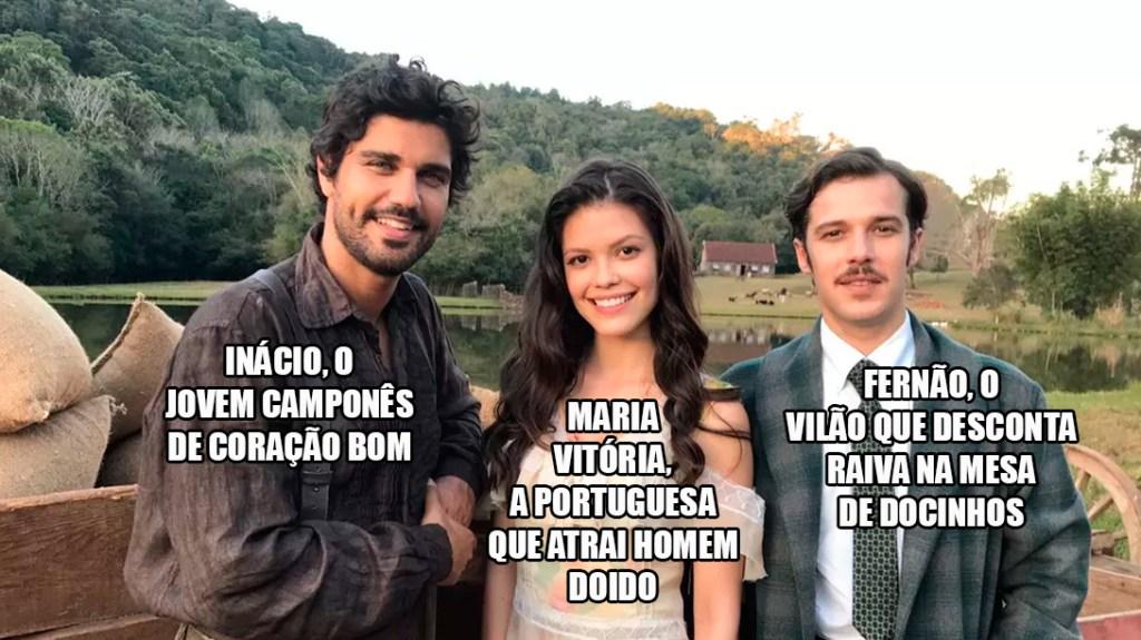 Resumo Tempo de Amar Inácio, Fernão e Maria Vitória