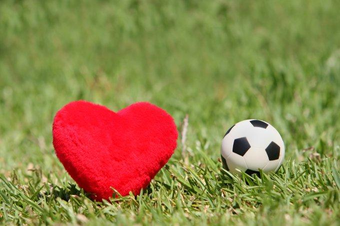 Casamento no campo de futebol