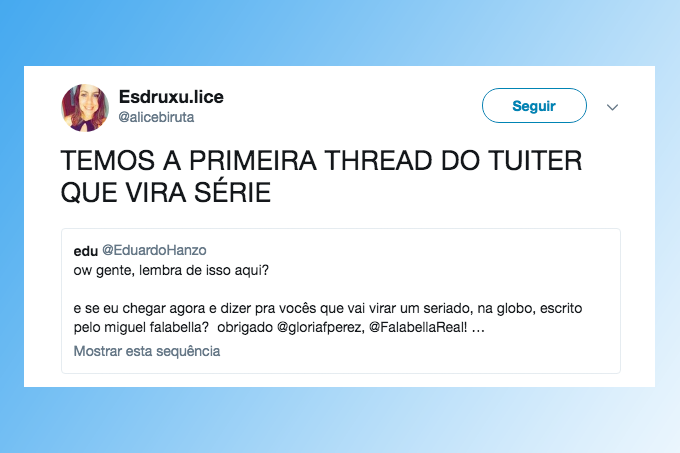 thread do twitter vira serie
