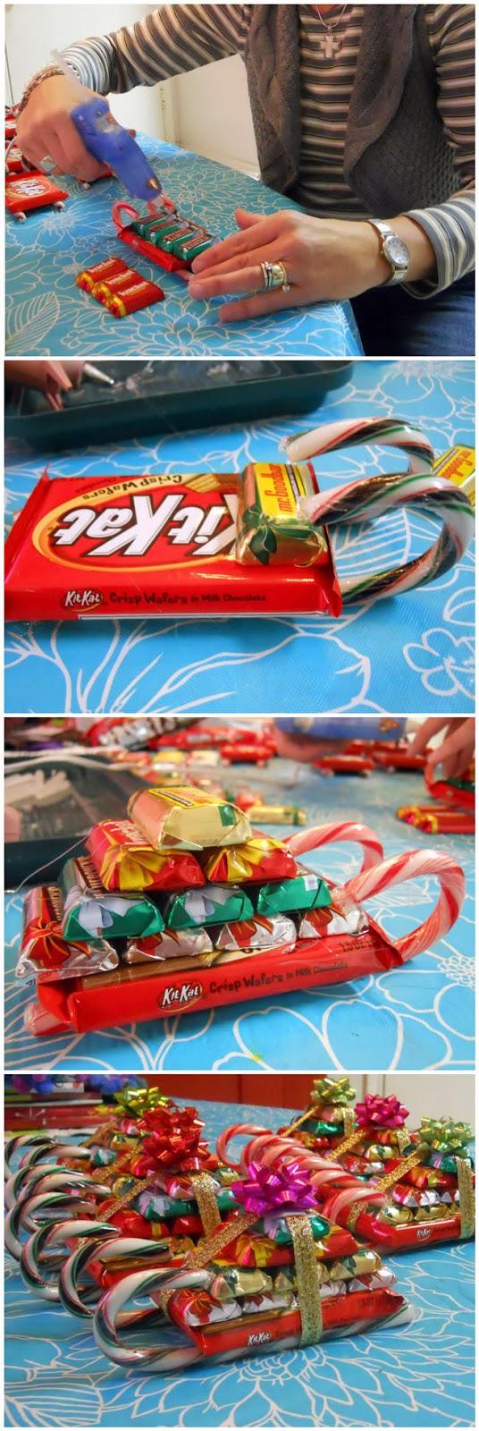 Trenó de doces para o Natal