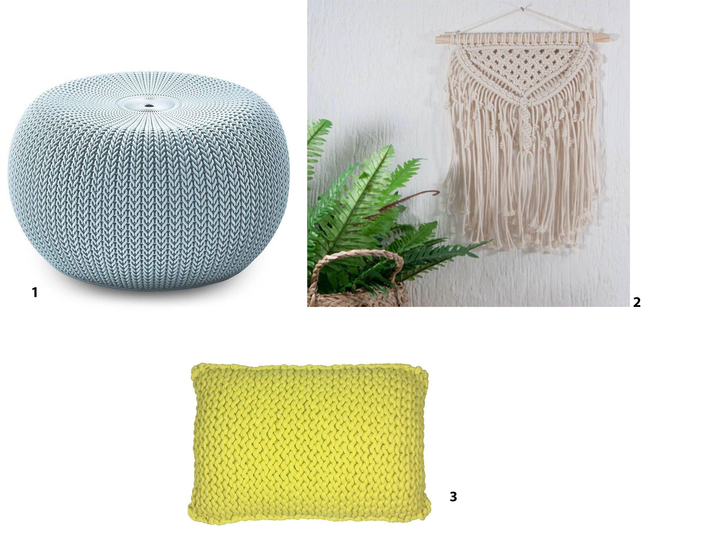 crochês e tricôs