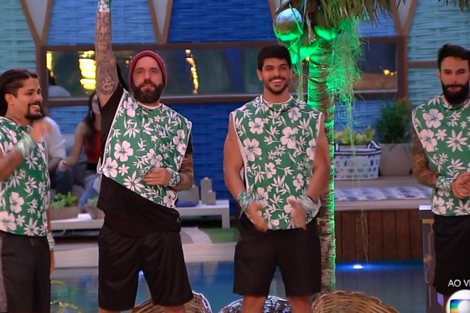 Vencedores da prova do coco
