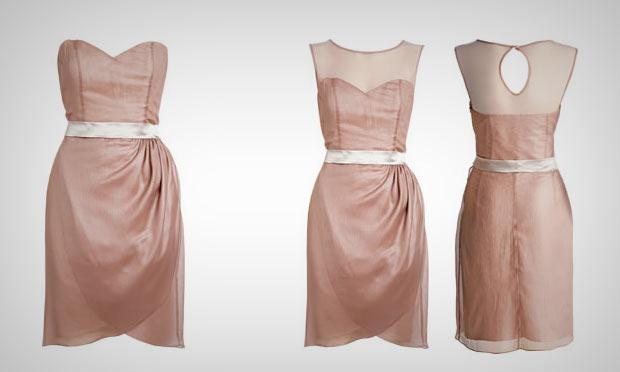 Transforme seu tomara que caia em um vestido com transparência