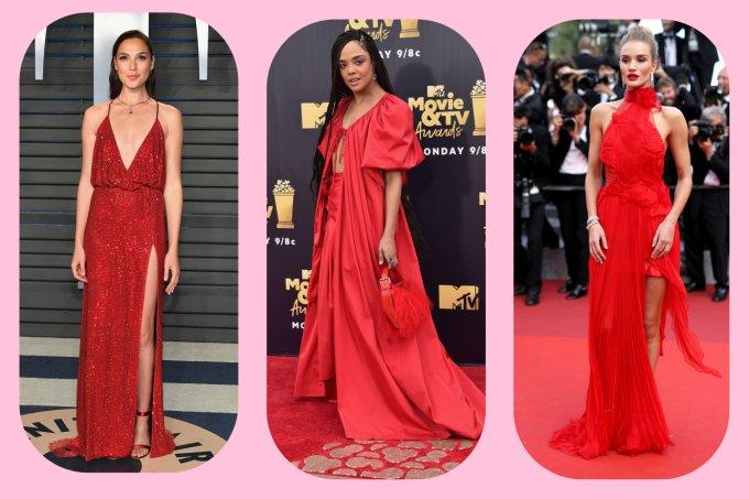 Vestidos de festa vermelhos