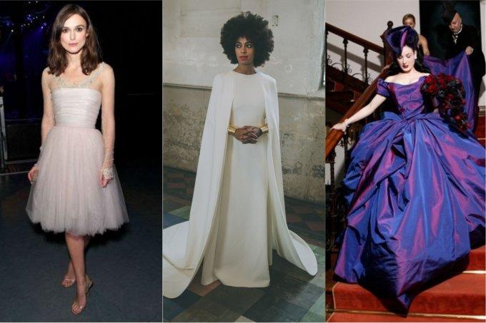 Os vestidos de noiva mais diferentes e inusitados já usados pelas famosas