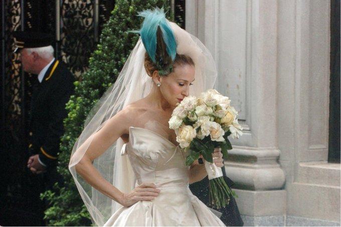 Cena do casamento de Carrie Bradshaw, no filme Sex And The City