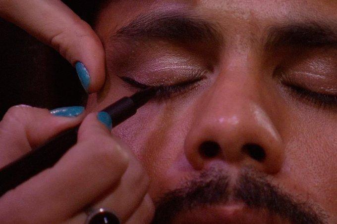 Viegas maquiado BBB18