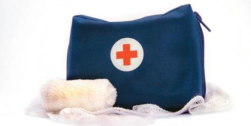 Kit básico de primeiros socorros