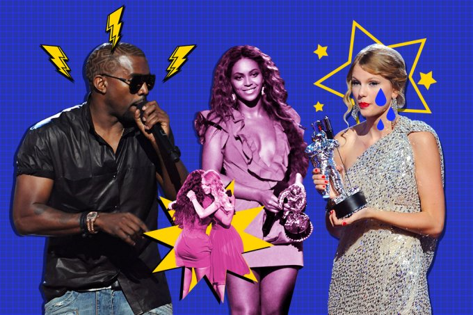 Kanye West, Beyoncé e Taylor Swift