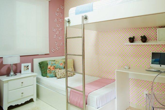 Apartamento pequeno 47 m² planejados para uma familia com quatro quarto criança
