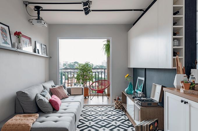 apartamento-pequeno-tem-decoração-aconchegante-e-funcional-sala-de-estar
