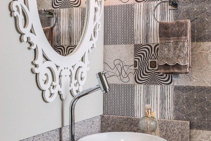 Apê de 66 m² compacto, charmoso e vestido para arrasar lavabo1